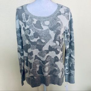 DKNY Jeans Bling Camo Knit Top